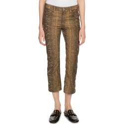 Apolo Cropped Snake-Print Straight-Leg Jeans found on MODAPINS from Bergdorf Goodman for USD $330.00