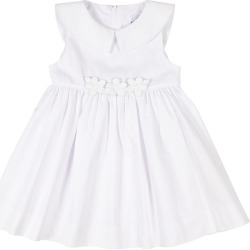 Girl's Fine Wale Pique Dress w/ Flower Applique, Size 9-24 Months found on Bargain Bro India from Bergdorf Goodman for $50.00