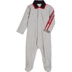 Collared Footie Pajamas w/ Logo Taping, Size 0-9 Months found on Bargain Bro Philippines from Bergdorf Goodman for $360.00