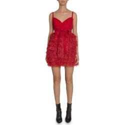 Lace & Feather Mini Dress found on MODAPINS from Bergdorf Goodman for USD $4375.00