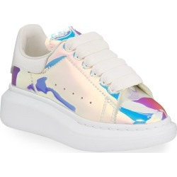 Lace-Up Holographic Sneakers, Toddler/Kids