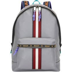 Men's Trainspotting Leather Backpack w/ Logo Trim