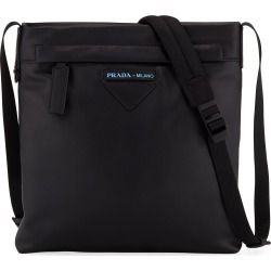 Men's Large Smooth Leather Crossbody Bag found on MODAPINS from Bergdorf Goodman for USD $1150.00