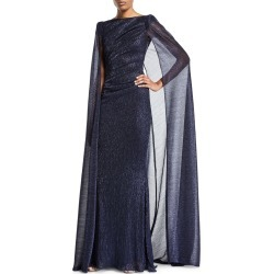 Shimmer Cape-Back Pleated-Waist Gown found on MODAPINS from Bergdorf Goodman for USD $2095.00