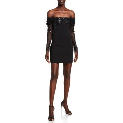 Off-the-Shoulder Sequined Mini Dress found on MODAPINS from Bergdorf Goodman for USD $448.00