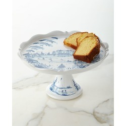Country Estate Delft Blue Pedestal Server found on Bargain Bro Philippines from Bergdorf Goodman for $168.00