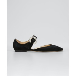 Gin Suede Square-Toe Buckle Ballerina Flats found on Bargain Bro Philippines from Bergdorf Goodman for $750.00
