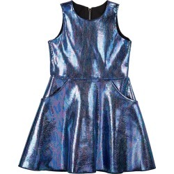 Girl's Metallic Foil Pocket Swing Dress, Size 4-6X found on Bargain Bro India from Bergdorf Goodman for $111.00