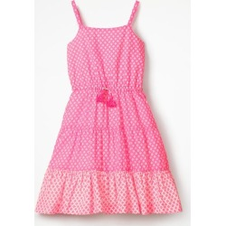 Tiered Strappy Sun Dress Knockout Pink/Ivory Geo Coral Girls Boden found on MODAPINS from bodenusa.com for USD $42.00