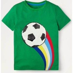 Sporty Sequin T-shirt Highland Green Sport Boys Boden found on Bargain Bro Philippines from Boden for $36.00