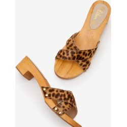 Orella Clogs Tan Leopard Women Boden found on MODAPINS from bodenusa.com for USD $130.00