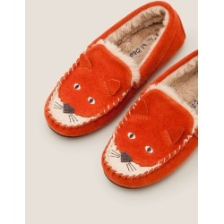 Suede Fox Slippers Autumn Spice Orange Boys Boden found on Bargain Bro India from bodenusa.com for $42.00