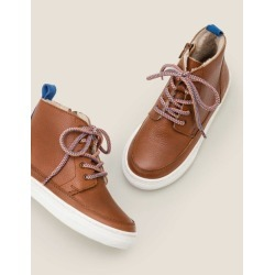 Leather Lace Up Boots Tan Boys Boden found on Bargain Bro Philippines from bodenusa.com for $90.00