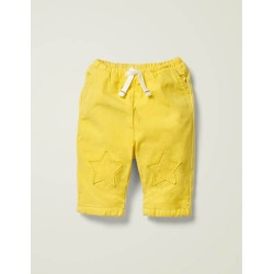 Patch Knees Pants Daffodil Yellow Boys Boden