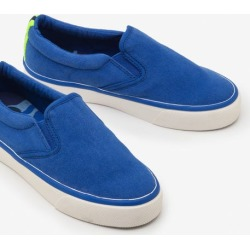 Canvas Slip-ons Duke Blue Boys Boden found on Bargain Bro India from bodenusa.com for $45.00