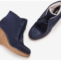 Brundall Wedge Boots Navy Women Boden found on MODAPINS from bodenusa.com for USD $161.00