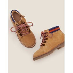 Suede Stripy Boots Light Tan Boys Boden found on Bargain Bro India from bodenusa.com for $33.99
