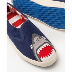 Novelty Slip-on Shoes Beacon Blue Boys Boden found on Bargain Bro India from bodenusa.com for $18.99