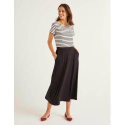Jersey Midi Skirt Black Women Boden