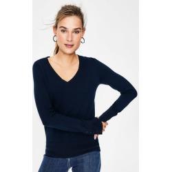 Tilda V Neck Sweater Navy Women Boden found on MODAPINS from bodenusa.com for USD $80.00