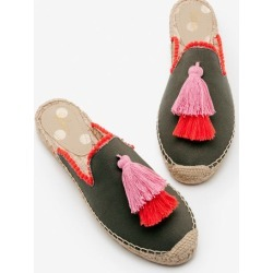 Leila Backless Espadrilles Khaki Women Boden found on MODAPINS from bodenusa.com for USD $68.00