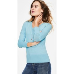 Tilda V Neck Sweater Pastel Blue Women Boden found on MODAPINS from bodenusa.com for USD $80.00