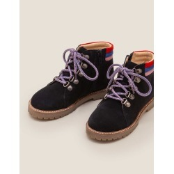 Suede Stripy Boots Navy Blue Boys Boden found on Bargain Bro India from bodenusa.com for $33.99