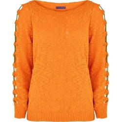 Join Us Sleeve Detail Jumper - Orange - size S-M found on Bargain Bro India from bonmarche for $37.53