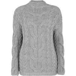 Bonmarche Cosy Cable Jumper - Grey - size 18