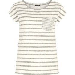 Bonmarche Stripe Pocket Linen Blend T-Shirt - White - size 26 found on Bargain Bro India from bonmarche for $17.70