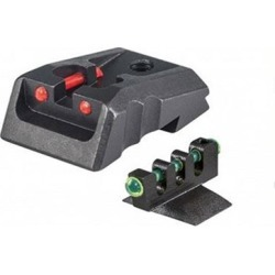 Fusion Firearms Kimber Fixed Rear Sight Red W/ Green Contour Front - Kimber Fixed Rear Sight Red With Green Contour Front