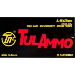 Tulammo Usa Steel Case Ammo 5.45x39mm 60gr Fmj - 5.45x39mm 60gr Full Metal Jacket 1,000/Case found on Bargain Bro Philippines from brownells for $313.99