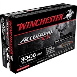 Winchester Supreme Accubond Ct Ammo 30-06 Springfield 180gr Bt - 30-06 Springfield 180gr Accubond 20/Box found on Bargain Bro India from brownells for $28.99