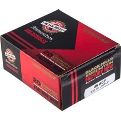 Black Hills Ammunition 45 Acp +p 230gr Jacketed Hollow Point Ammo - 45 Auto +p 230gr Jhp 20/Box found on Bargain Bro India from brownells for $19.17