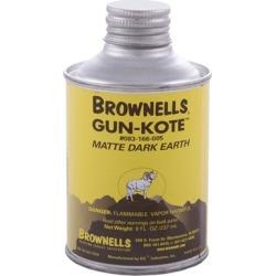 Brownells Gun-Kote Oven Cure, Gun Finish - Matte Dark Earth, Liquid, 8oz.