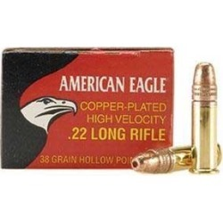 American Eagle Ammo 22 Long Rifle 38gr Copper Plated Hp - 22 Long Rifle 38gr Copper Plated Hollow Point 40/Box found on Bargain Bro Philippines from brownells for $2.39