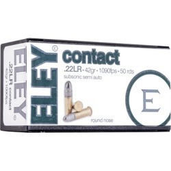 Eley Americas Contact Ammo 22 Long Rifle 42gr Subsonic Lead Round Nose - 22 Long Rifle 42gr Subsonic Lead Round Nose 500/Brick found on Bargain Bro Philippines from brownells for $62.99