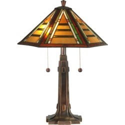 Dale Tiffany TT11049 Grueby Tiffany Table Lamp with 2 Lights