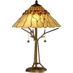 Dale Tiffany TT10598 Branch Base Tiffany Table Lamp with 2 Lights