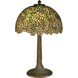 Dale Tiffany TT10335 Wisteria Tiffany Table Lamp with 2 Lights