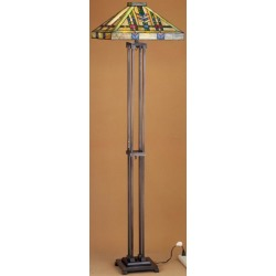 Meyda Tiffany 28326 Stained Glass / Tiffany Floor Lamp from the Prairie Wheat Co