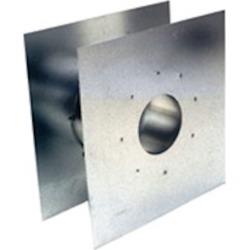 "Eccotemp 2SVSWTF03 3"" Z-Flex Adjustable AL29-4C Stainless Steel Wall Thimble"