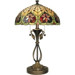 """Dale Tiffany TT60024 26.75"""" Tiffany Table Lamp with 2 Lights"""