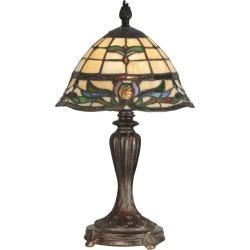 Dale Tiffany TT10087 Victorian 1 Light Tiffany Table Lamp with Art Glass Shade