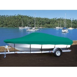 Hot Shot Coated Polyester Boat Cover For Crestliner 1400 Angler Side Console found on Bargain Bro from Camping World for USD $193.63