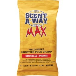 Scent-A-Way MAX Field Wipes, 24-Pack found on Bargain Bro India from Camping World for $4.74