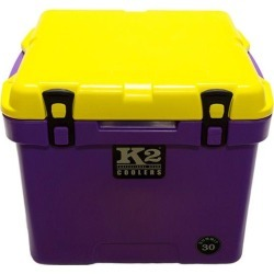 K2 Summit 30 Quart Cooler, Purple Base and Yellow Lid found on Bargain Bro from Camping World for USD $194.17