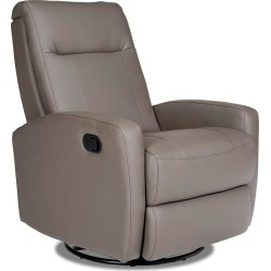 Stefan Swivel Glider Recliner, Samaurai Quarry