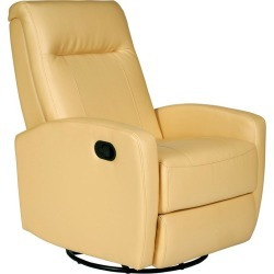 Stefan Swivel Glider Recliner, Bedford Yellow