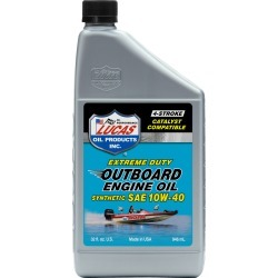 Lucas Oil Synthetic SAE 10W-40 Outboard Engine Oil, Quart found on Bargain Bro from Camping World for USD $7.21